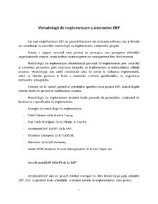 Metodologii de Implementare ERP - Pagina 2