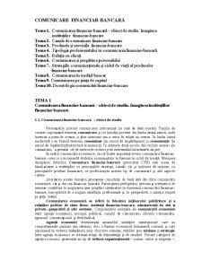 Comunicare financiar-bancară - Pagina 1
