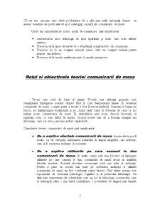 Definitia si Conceptul de Comunicare de Masa Teorii ale Mass-Media - Pagina 3