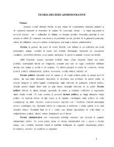 Teoria Deciziei Administrative - Pagina 1