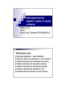 Managementul Apelor Uzate - Pagina 1