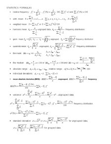 Statistica - Formule si Subiecte Examen - Pagina 1