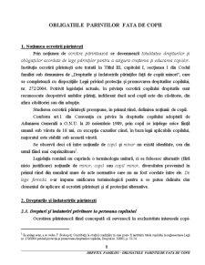 Obligatiile Parintilor Fata de Copii - Pagina 1