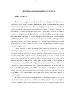 Istoria Gândirii Juridice Europene - Pagina 1