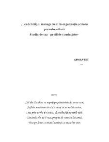 Leadership și Management în Organizația Școlară Preuniversitară - Pagina 1