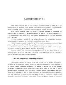 Programare Orientata pe Obiect C++ - Pagina 1