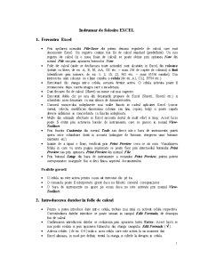 Indrumar EXCEL - Pagina 1