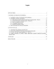 Sistemul de Pensii în România - Pagina 1