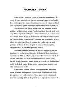 Poluarea Fonica - Pagina 1