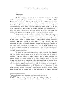 Multiculturalism - Obligatie sau Optiune - Pagina 2