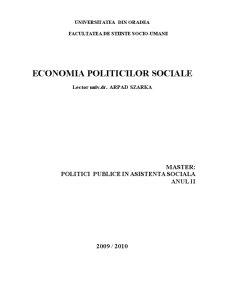 Economia Politicilor Sociale - Pagina 1