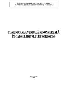Comunicarea Verbala si Nonverbala in Cadrul Hotelului Horoscop - Pagina 1