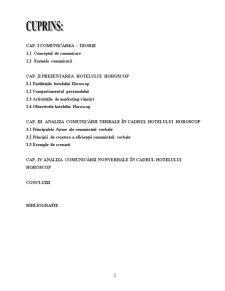 Comunicarea Verbala si Nonverbala in Cadrul Hotelului Horoscop - Pagina 2