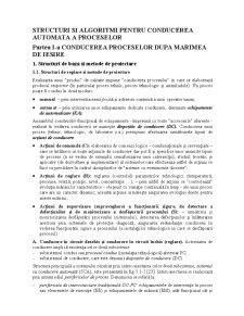 Structuri si Algoritmi pentru Conducerea Automata a Proceselor - Pagina 1