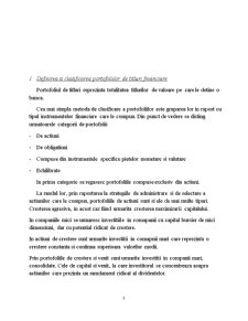 Gestiunea Portofoliului de Titluri Financiare. Rolul Bancilor de Investitii - Pagina 3