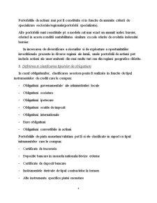 Gestiunea Portofoliului de Titluri Financiare. Rolul Bancilor de Investitii - Pagina 4
