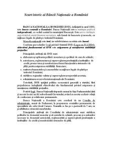 Rolul Bancii Nationala a Romaniei - Pagina 2