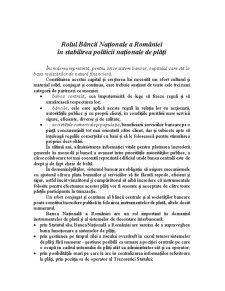 Rolul Bancii Nationala a Romaniei - Pagina 3