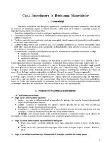 Rezistența Materialelor - Pagina 1