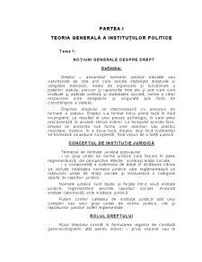 Teoria Generală a Instituțiilor Politice - Pagina 1
