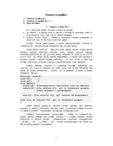 Tratarea Excepțiilor - Pagina 1