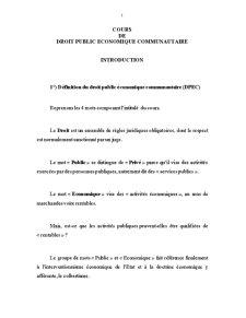 Droit Public Economique Communautaire - Pagina 1
