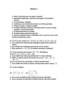 Algebra Liniara si Geometrie Analitica Diferentiala - Pagina 1