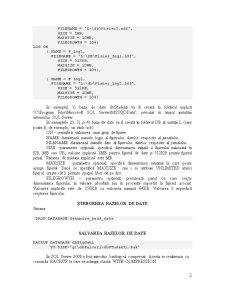 Crearea Bazelor de Date - SQL Server - Pagina 2