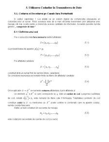 Utilizarea Codurilor în Transmiterea de Date - Pagina 1