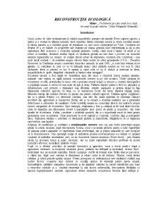 Reconstrucție Ecologică - Pagina 1