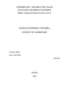 Actele de Expertiza Contabila - Continut si Valorificare - Pagina 1