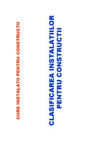 Instalatii pentru Constructii - Pagina 1