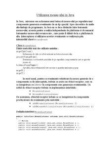 Utilizarea Mouse-ului în Java - Pagina 1