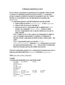 Utilizarea Tastaturii în Java - Pagina 1