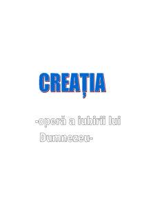 Creatia – Opera a Iubirii lui Dumnzeu - Pagina 1