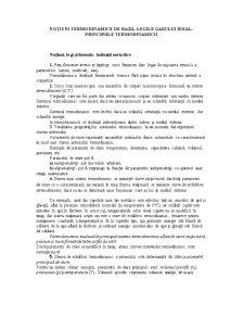 Notiuni Termodinamice de Baza - Legile Gazului Ideal - Principiile Termodinamicii - Pagina 1