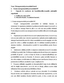 Managementul Personalului Băncii - Pagina 1