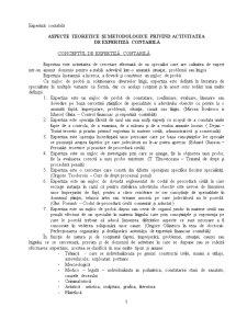 Aspecte Teoretice și Metodologice privind Activitatea de Expertiză Contabilă - Pagina 1