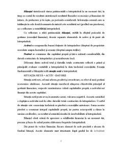 Analiza Echilibrului Financiar al Întreprinderii - Pagina 2