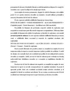 Analiza Echilibrului Financiar al Întreprinderii - Pagina 4