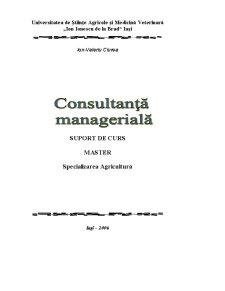 Consultanță Managerială - Pagina 1