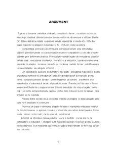 Procedee de Prelucrare a Metalelor și Aliajelor - Turnarea - Pagina 2