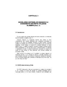 Modelarea Sistemelor Dinamice cu Evenimente Discrete Utilizând Algebra - Pagina 1