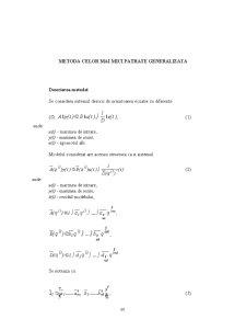 Metoda celor Mai Mici Patrate Generalizata - Pagina 1