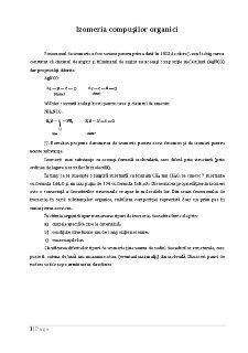 Izomeria Compușilor Organici - Pagina 1