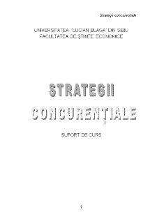 Strategii Concurențiale - Pagina 1