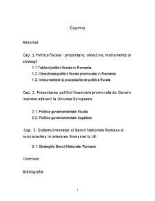 Politica Fiscala - Pagina 1