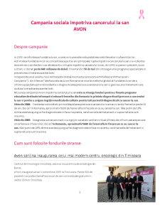 Campania Sociala Impotriva Cancerului la San - Avon - Pagina 1