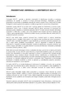 Asigurarea Calitatii Produselor Alimentare - Standardul HACCP - Pagina 3