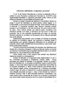 Protectia Internationala a Drepturilor Omului - Libertatea Individuala si Siguranta Persoanei - Pagina 2